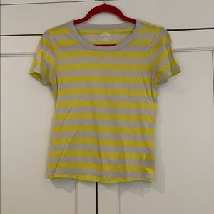 Urban Outfitters yellow and gray striped t-shirt
